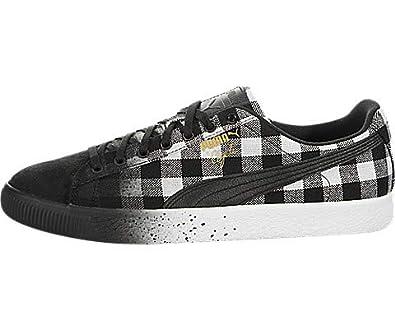 sports shoes dd69d 099c1 Amazon.com | Puma Clyde White Buffalo Plaid | Shoes