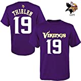 Outerstuff Youth Minnesota Vikings Adam Thielen NFL Purple Name & Number T-Shirt