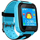 Kids Smart Watch Phone, Children GPS Tracker Safety SmartWatch 3-12 Year Old Girls Boys Toys Gift SOS Call Pedometer Camera Touch Screen Game Bracelet (Blue)