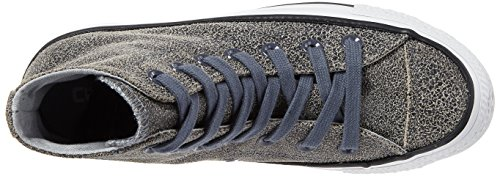 a Taylor Star White Unisex Sharkskin Chuck Grau Alto Black Collo all Sneaker Adulto Converse pXt5qZn