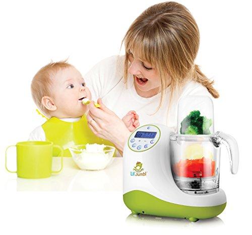 Versatile Baby Food Maker, Mill, Grinder, Blender, Steamer, Reheat, Bottle & Pacifier Warmer & Sterilizer. Digital Controls, LCD Display, Timer & Bowl Lock System. 2 Foods At Once. by Lil' Jumbl (Image #4)