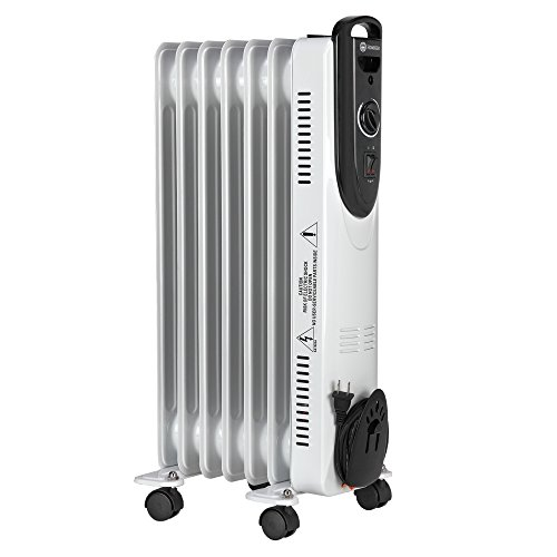 Homegear Oil Filled Radiator Heater with Dual Heat Settings (1500W/750W) Homegear Oil Filled Heaters