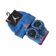 Baby Boy Nike Air Jordan Booties and Beanie Set (Deep Blue) 0-6 Months