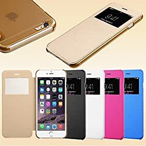 QHY Smart View Screen Touch PU Leather Case for iPhone 6 (Assorted Colors) , Green