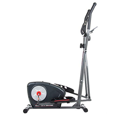 Body Champ New Elliptical Machine Trainer Magnetic Smooth Quiet Driven with LCD Media Holder Monitor and Pulse Rate Grips BR2117 by Body Champ (Image #6)