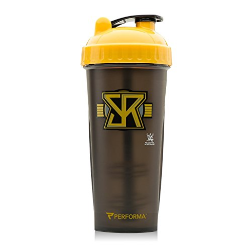 Performa Perfect Shaker - WWE Superstar Series, The Best Leak Free Bottle With Actionrod Mixing Technology For Your Sports & Fitness Needs! Dishwasher and Shatter Proof(Seth Rollins) (Star Stand Rods)