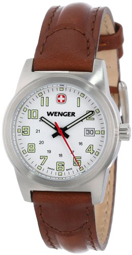 Wenger Women's 72820 Stainless Steel Watch with Brown Leather Band