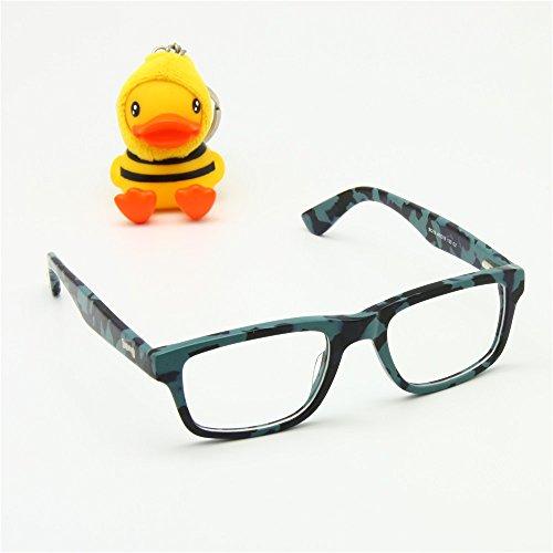 2277f2ce9937c EnzoDate Size 46-18-130 Boys Girls Children Camo Optical Eyeglasses Frames  Spring Hinge Student Acetate Frame Age 6-8 (camouflage blue)