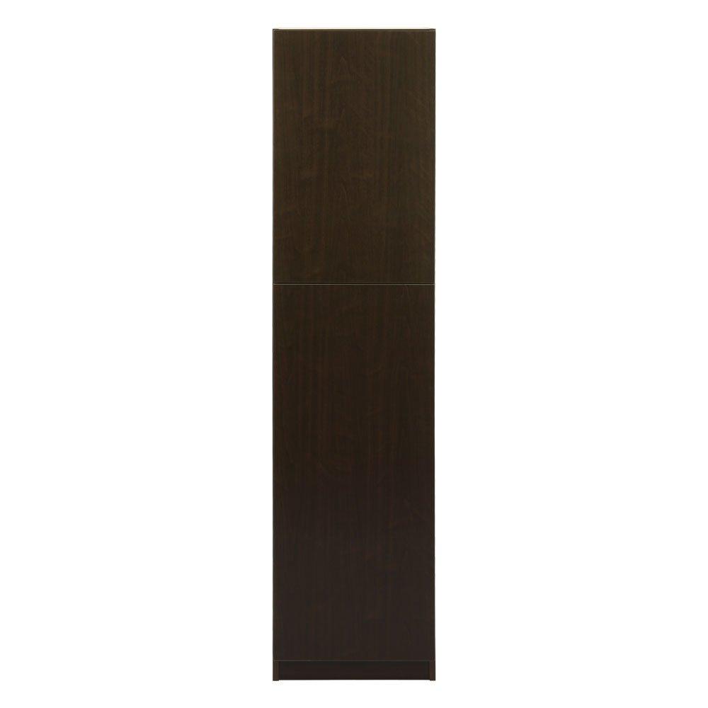 【完成品組立不要】 日本製 壁面収納 扉付き 収納 棚 本棚 〔幅45cm 本体〕 ダークブラウン 〔左開き〕 B071ZDGFHW 完成品|ダークブラウン〔左開き〕 ダークブラウン〔左開き〕 完成品