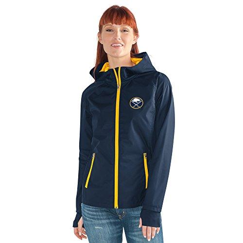 GIII For Her NHL Buffalo Sabres Women's Onside Kick Light Weight Full Zip Jacket, Medium, ()