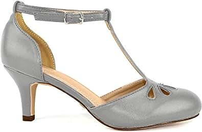 Chase & Chloe Womens KIMMY-36-BLKSU Kimmy-36 Grey Size: 6