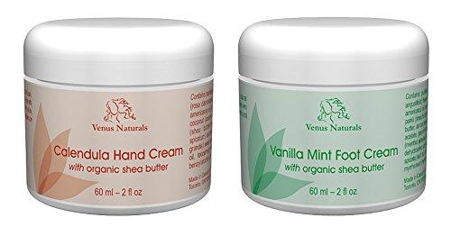 Calendula Hand Cream and Vanilla Mint Foot Cream - Venus Tea Peppermint