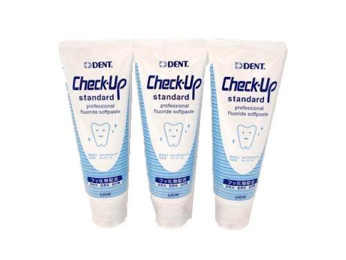 Lion Check-up Standard 120g, 3 Tubes (Made in Japan) by Lion