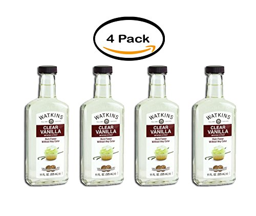 PACK OF 4 - Watkins Imitation Clear Vanilla Extract, 11 Fl Oz