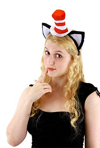 Elope Cat in the Hat, Hat Headband with Ears - Girl Cat In The Hat Costume