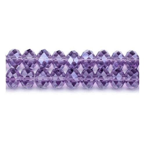 Strand 70+ Violet Czech Crystal Glass 9 x 12mm Faceted Rondelle Beads GC3537-5 (Charming Beads) (Faceted Bead Rondelle 12mm)