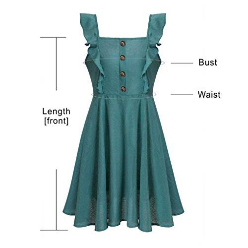 Verde Si Donne Bretelle Spezie Collo Acmede Vestono Di Vestito Di U Laciness Casuale 7awdanRx
