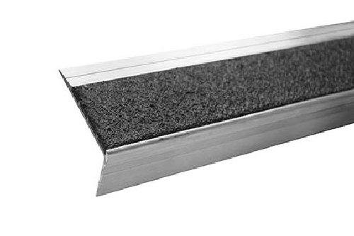 MASTER STOP 404NS10060019R Renovation Stair Tread, Black, 4'' depth, 60'' length, aluminum, mineral abrasive anti-slip surface