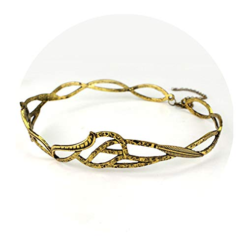 The Hobbits Crown With Hair Chain Vintage Metal Gold Color Men Costume Hair -