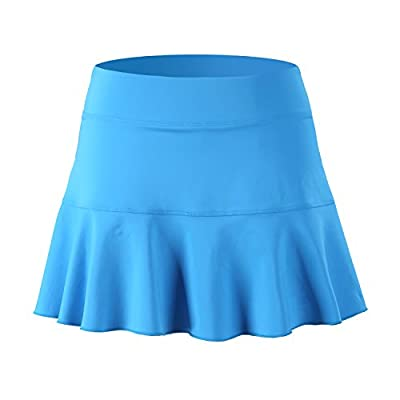 32e-SANERYI Women's Pleated Elastic Quick-Drying Tennis Skirt with Shorts Running Skort: Clothing