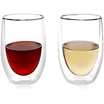 Freeze cooling wine glasses set of 2 by host freeze wine tumblers kitchen dining - Insulated stemless wine glasses ...
