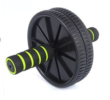 Black color Brand New Dual Wheel Ab Roller With Mat for Gym Abdominal Exercise Fitness Equipment (Push Up Bar Nike)