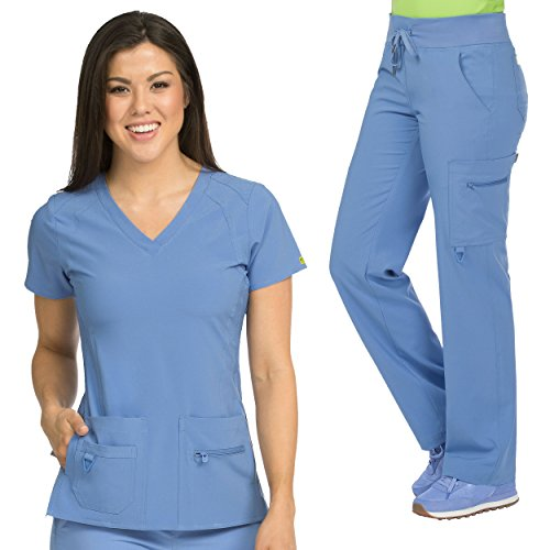 Med Couture Activate Women's Refined Scrub Top & Transformer Cargo Scrub Pant Set by Med Couture