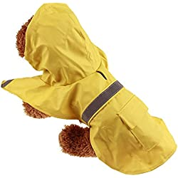 Glumes Pet Apparel Dog Clothing Clothes Rain Snow Coats Waterproof Raincoats 4 Legs Raincoat for Small Medium Large Big Size Dogs Hoodie Costumes for Golden Retriever Labrador Chihuahua Poodle