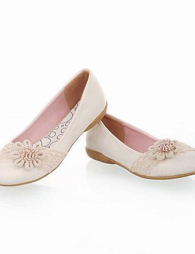 Pink Casual Scarpe Nero ShangYi Ballerine Piatto Donna Rosa Bianco arrotondata Finta pelle Punta qUOwBCa