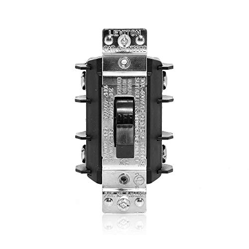 Leviton MS302-DS 30 Amp, 600 Volt, Double- Pole, Single Phase AC Motor Starter, Suitable as Motor Disconnect, Industrial Grade, Non-Grounding, ()