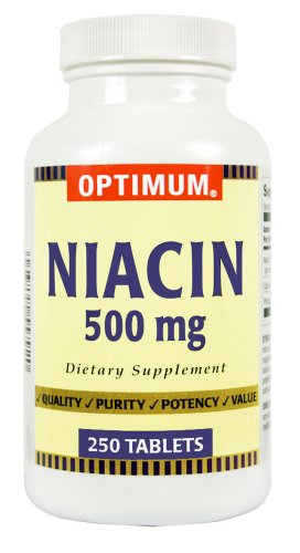 La niacine Optimum, 500 mg, 250 comprimés