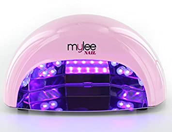 Mylee High Quality LED Lamp 5-finger 12 Watt Dome Lamp, Cures Gel Polish in seconds with 15, 30 and 60 Second Timer. Features a Removable Magnetic Tray and Motion Activated Sensor (Black)