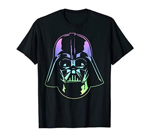 Star Wars Darth Vader Head Neon Gradient Graphic -