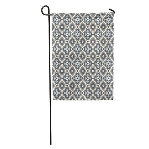 (Semtomn Garden Flag Victorian Floor Tiles Vintage Pattern Quatrefoils Plain Colors Easy Home Yard House Decor Barnner Outdoor Stand 28x40 Inches Flag)