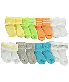 Luvable Friends Unisex Baby 8 Pack Newborn Socks