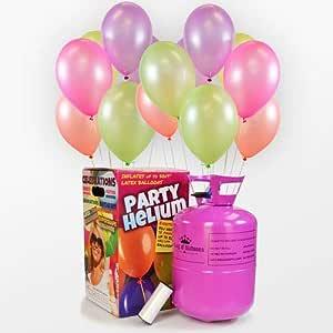We Are Party Pack Bombona de Helio + 50 Globos NEÓN: Amazon.es ...