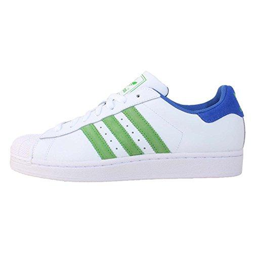 Adidas Men's Superstar II, WHITE/GREEN/BLUE, 10 M US