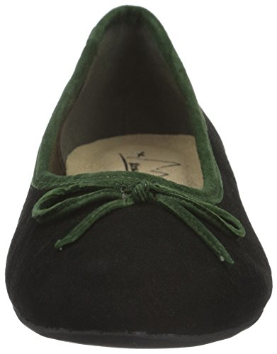 Andrea Conti Damen 1001668 Geschlossene Ballerinas Schwarz (schwarz/grün 237)