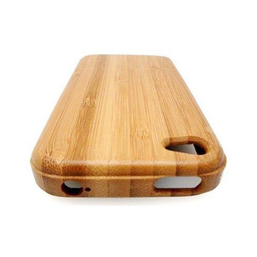 SODIAL(Wz.) iPhone 4 Bambus Case Handarbeit Hartes Holz Hartschale Etui