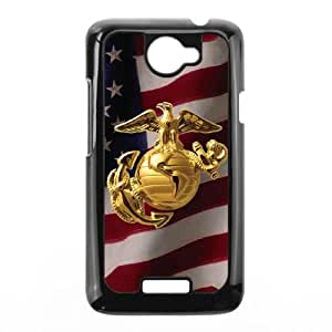 HTC One X Cell Phone Case Black Gold Marine American Flag LV7900017