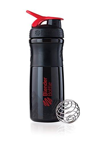 Price comparison product image BlenderBottle SportMixer Tritan Grip Shaker Bottle, Black/Red, 28-Ounce