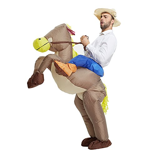 Fancy Dress Animal Costumes (NEWBEA Costume Inflatable Costumes Inflatable Ride Me Adult Carry On Animal Fancy Dress Costume (Cowboy))