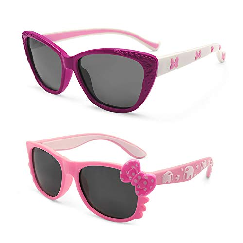 MotoEye Sunglasses for Kids, Age 4-12 Years Old, Girl or Boy Styles, Pack of ()
