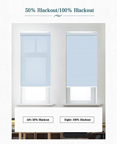 ZY Blinds Light Filtering Shades Custom Made Any Size from 20-78inch Wide UV Protection Enery Saving Window Shades Blinds For Home, Hotel, Club, Restaurant 25'' W x 36'' L, Apple Green by ZY Blinds (Image #4)