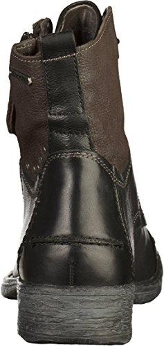 Bugatti 421330311015, Botas para Mujer Schwarz (Black/ Dark Grey)