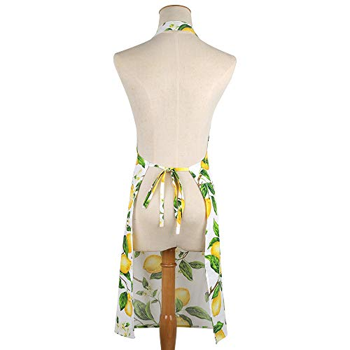 Thin Summer Cotton Women's Kitchen Apron Adjustable Cooking Baking Garden Chef Apron with Pocket Great Gift for Wife… 3