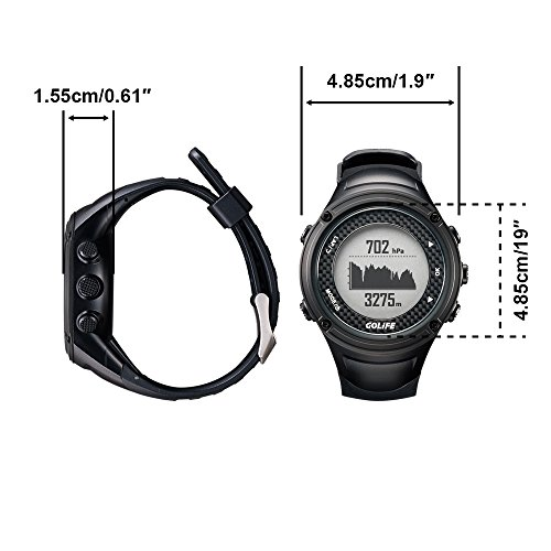 Waterproof Hiking Watch GPS Outdoor GOLiFE X pro Adventurer Sports Watch GPS for Men Triathlon Swimming Climbing Hiking Cycling and Running Includes Compass Barometer Thermometer Functions (Black)