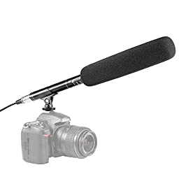 Neewer 14.37 inch Photography Camera Camcorder Uni-Directional System Condenser Shotgun Interview MIC Microphone for Canon Nikon Sony Olympus Pentax Panasonic and Other HDSLRs DV Camcoders