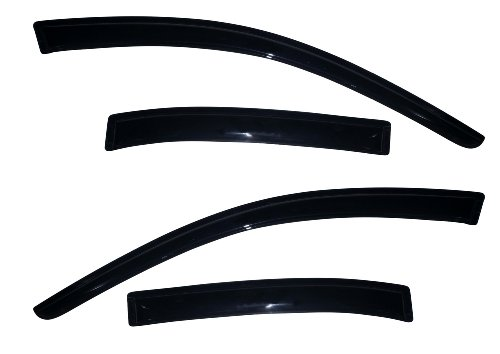 Auto Ventshade 94362 Original Ventvisor Side Window Deflector Dark Smoke, 4-Piece Set for 2013-2015 Chevrolet Malibu, 2016 Malibu Limited (Auto Body Malibu Chevrolet)