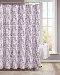 Painted Shower Curtain, Purple/Lavender